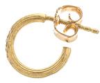 Afin Atelier Small Single Hoop Earring With Diamonds in Metallics.
