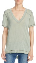 Free People Pearls High/Low Tee
