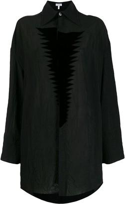 Loewe Wrinkled Texture Loose Shirt