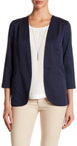 Harlowe & Graham Open Front 3/4 Sleeve Easy Blazer