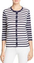 Foxcroft Bev Mixed Stripe Cardigan