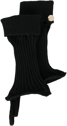 Ann Demeulemeester Knitted Cut-Out Gloves
