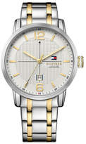 Tommy Hilfiger Mens George 3 Hand With Date Rnd T/Tone Bracelet