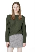 Mango Outlet Cotton Wool-Blend Ribbed Sweater