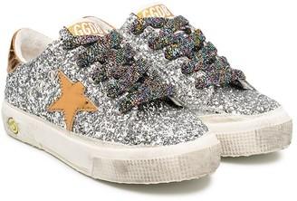 Golden Goose Kids Superstar glitter detail sneakers