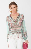 Hale Bob Elini Beaded Tunic In Mint