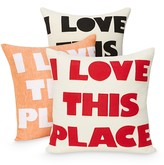 "Alexandra Ferguson I Love This Place Decorative Pillow, 16"" x 16"""