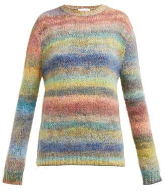 Raey Striped Hand Painted Knitted Sweater - Womens - Multi