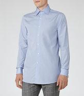 Reiss Reiss Blaine - Double Cuff Shirt In Blue