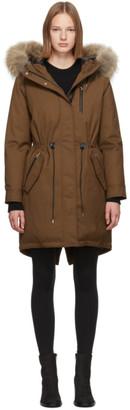 Mackage SSENSE Exclusive Tan Down Rena Coat