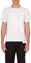 Maison Margiela Men's Fragmented-Logo Cotton T-Shirt-WHITE