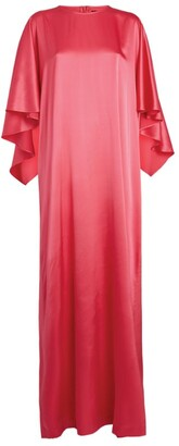 St. John Silk-Rich Kaftan Dress