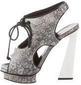 Proenza Schouler Karung Lace-Up Platform Sandals