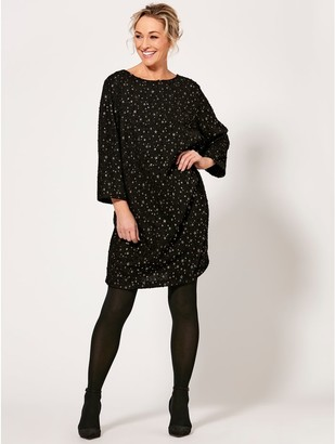 M&Co Spirit foil star print shift dress