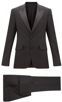Givenchy Satin-trimmed Wool-blend Tuxedo - Black