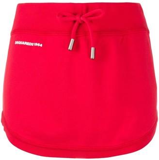 DSQUARED2 Logo Print Mini Skirt
