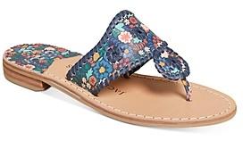 Jack Rogers Women's Jacks Floral Printed Flat Sandals