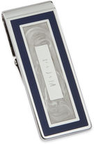 JCPenney Personalized Blue and Pearl-White Hinged Money Clip