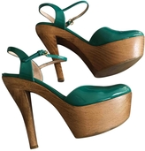 Gucci Turquoise Patent leather Heels