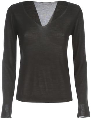 Nuur V Neck Wool & Silk Sweater
