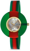 Gucci Vintage Web Resin 35MM Green Red Green Watch