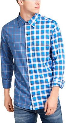 DKNY Men Double-Plaid Shirt