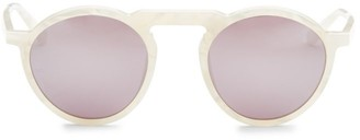 Smoke X Mirrors Letter, 49MM, Round Sunglasses