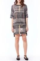 Michael Stars Women's Patch Pocket Mixed Media Shift Dress
