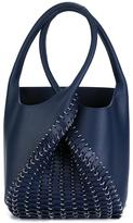 Paco Rabanne twist handle studded tote