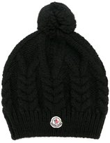 Moncler pompom cable knit beanie - women - Acrylic/Wool/Alpaca - One Size