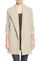 James Perse Women's Open Drape Boucle Cardigan