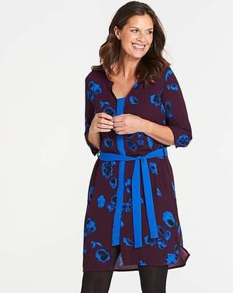I.Scenery Tie Waist Printed Dress