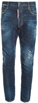 DSQUARED2 Tidy Biker Slim-Fit Splatter Jeans