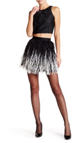 Alice + Olivia Lauryn Genuine Ostrich Feather Mini Skirt