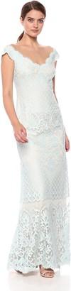 Tadashi Shoji Women's Cap Sleeve All Over lace Gown
