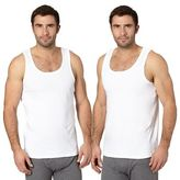 Debenhams Big And Tall Pack Of Two White Cotton Vests