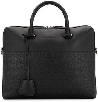 Salvatore Ferragamo embossed Gancini motifs briefcase