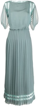Giorgio Armani Pleated Shift Dress