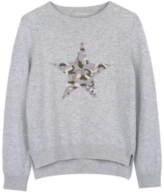 Mint Velvet Grey Camo Star Jumper
