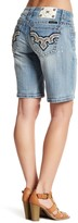 Miss Me Distressed Embellished Mid Thigh Short