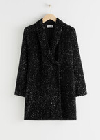 Thumbnail for your product : And other stories Sequin Double Breasted Blazer Dress