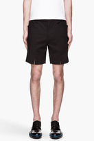 Raf Simons Black split and structured tuxedo shorts