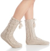 Sole Society Cable Knit Slipper Socks