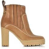 See by Chloe Cuoio Leather High Heel Ankle Boots