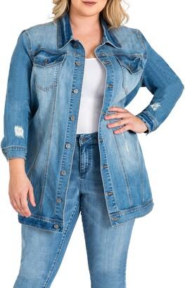 Standards & Practices Margot Longline Denim Jacket