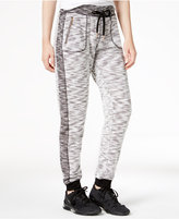 Material Girl Active Marled Contrast Jogger Pants, Only at Macy's