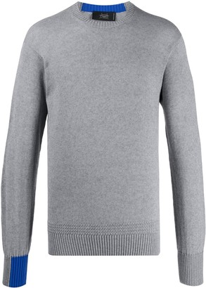 Maison Flaneur fine knit colour block jumper