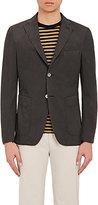 Officine Generale Men's Cotton Three-Button Sportcoat-BLACK