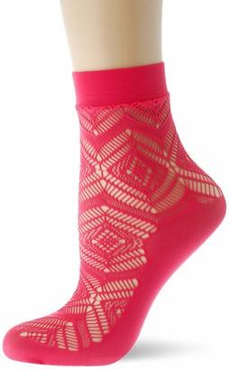 Burlington Women's Argyle Lace Ankle Socks