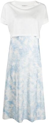 AllSaints T-shirt panel satin dress